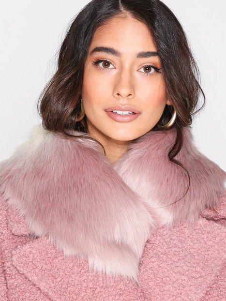 Billede af New Look Faux Fur Collar Tørklæder Pink