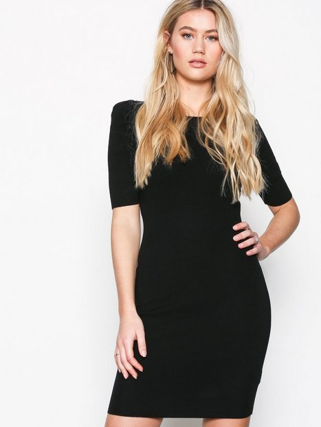 New Look Puff Sleeve Bodycon Dress Fodralklänningar Black thumbnail