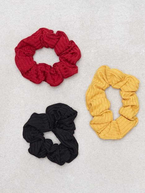 Billede af New Look 3 Pack Multi Coloured Scrunchies Hårtilbehør Multi
