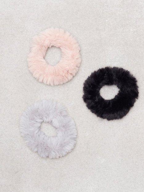 Billede af New Look 3 Pack Multi Coloured Faux Fur Scrunchie Hårtilbehør Multi