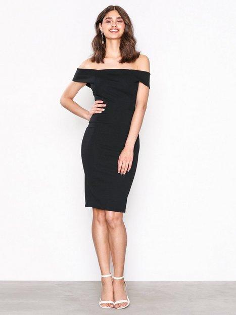 Billede af New Look Bardot Neck Scuba Midi Dress Kropsnære kjoler Black