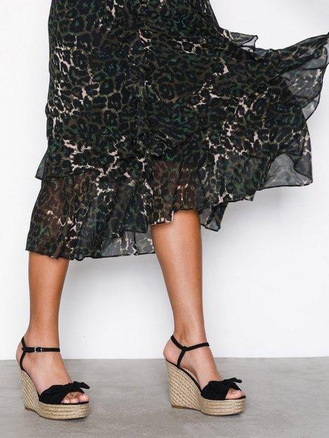 Billede af New Look Suedette Bow Strap Wedges Wedge Black
