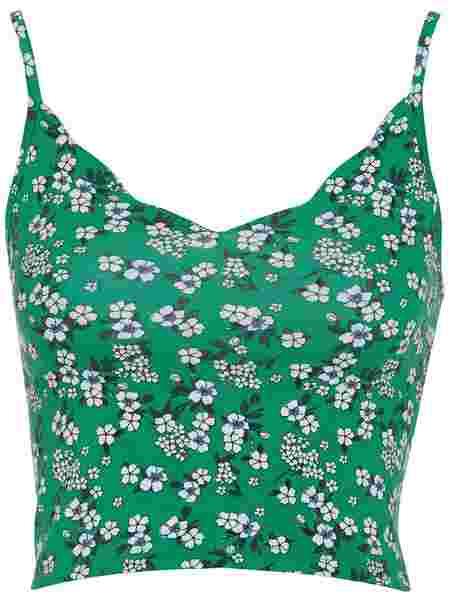 ebbda3718d87b Floral Scalloped Cami Top - New Look - Green - Tops - Clothing ...