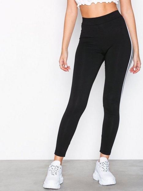 Billede af New Look Double Side Stripe Leggings Leggings Black