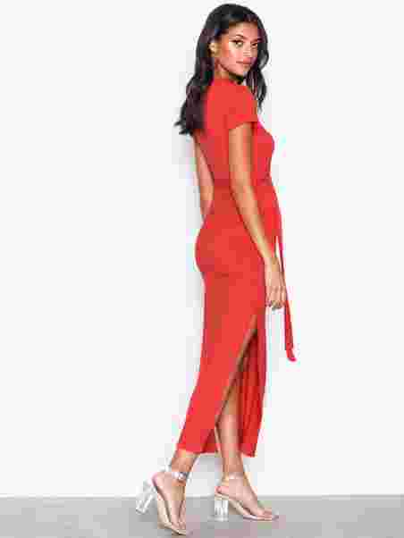3cf2bf69307b V - Neck Jersey Maxi Dress - New Look - Red - Party Dresses ...
