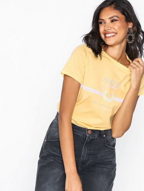 Billede af New Look Amour Slogan T-Shirt T-shirt Yellow