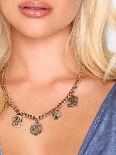 Billede af Freedom by Topshop Coin Drop Necklace Halskæde Gold