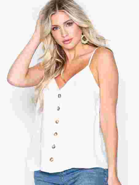 8ad9205a4a144 Airflow Cami Top - New Look - Winter White - Tops - Clothing - Women ...