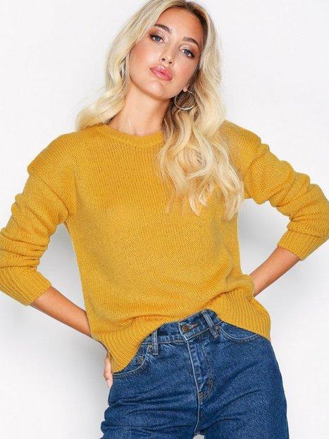 Billede af New Look Curved Hem Jumper Trøjer Yellow