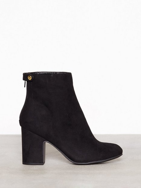 Billede af New Look Suedette Block Heel Ankle Boots Boots Black