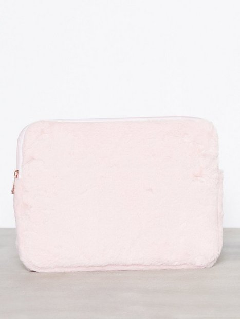 Billede af New Look 12 Inch Faux Fur Laptop Case Computertasker Pale Pink