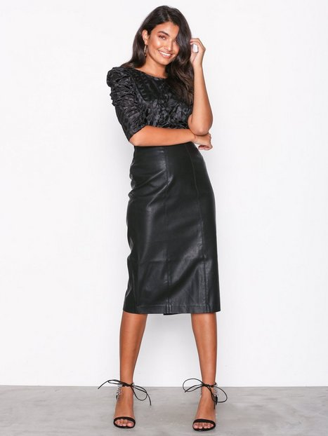 7c6b4a5bae Leather-Look Pencil Skirt. Leather Look A Line Mini Skirt. Hover to zoom.  Gallery. Women's Black ...