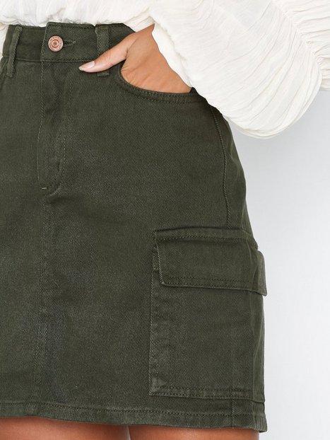 Cargo Denim Skirt