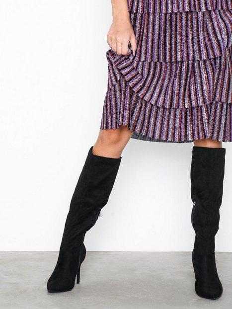 Billede af New Look Suedette Knee High Pointed Stiletto Boots Knee-high