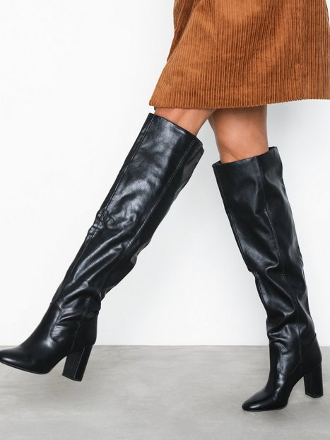 Billede af New Look Slouch Thigh Length Heeled Boots Thigh-high
