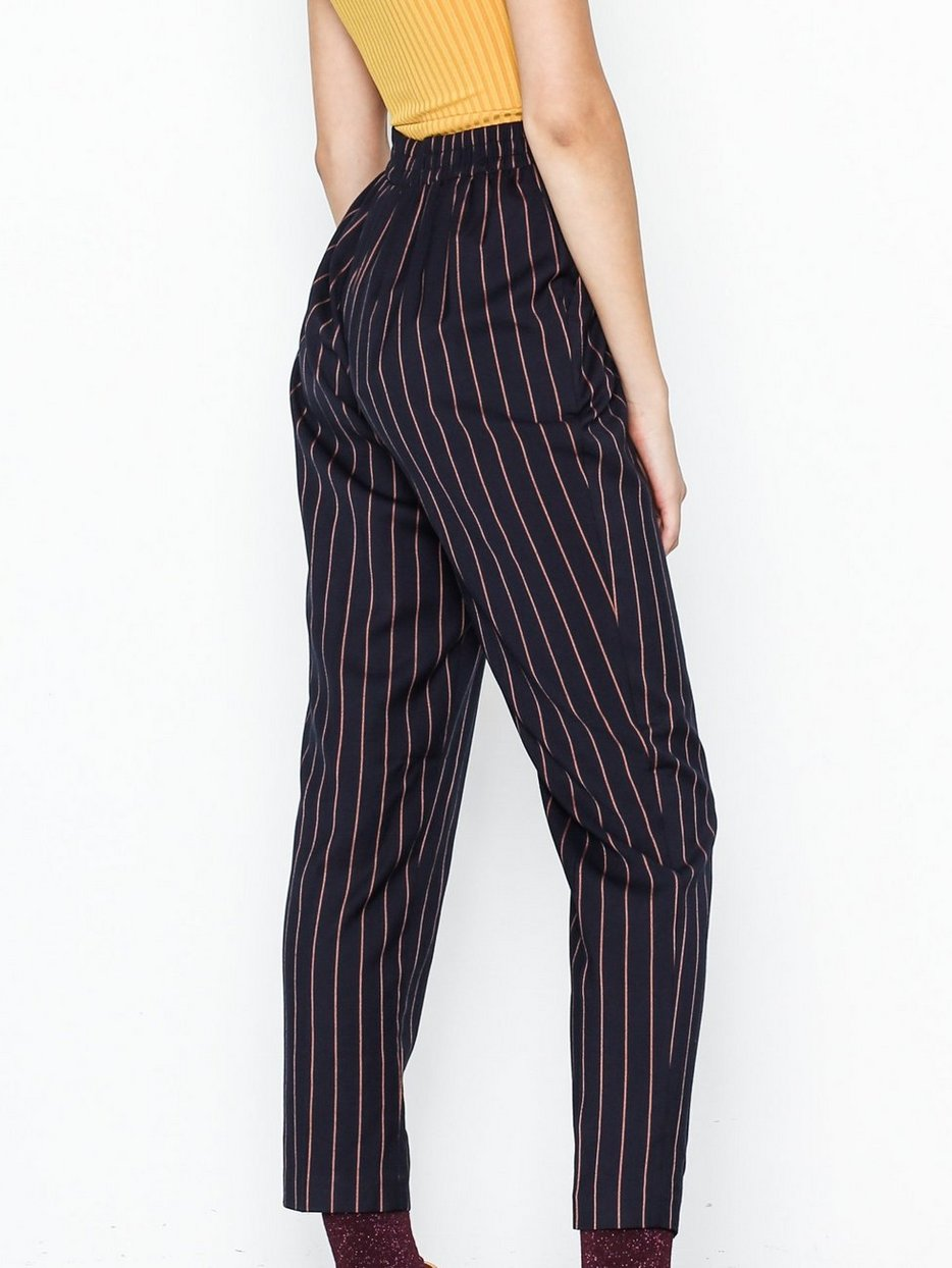 2d68ffc6b38c2 Pinstripe Slim Leg Trousers - New Look - Blue - Pants   Shorts - Clothing -  Women - Nelly.com