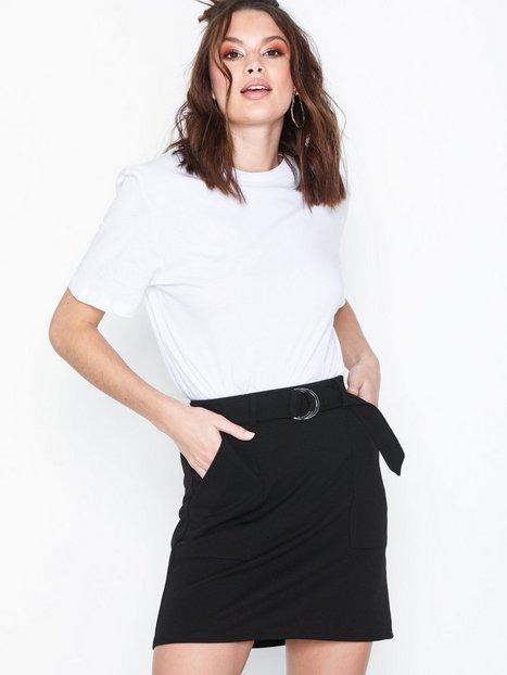 Billede af New Look Crepe D-Ring Mini Skirt Midi nederdele