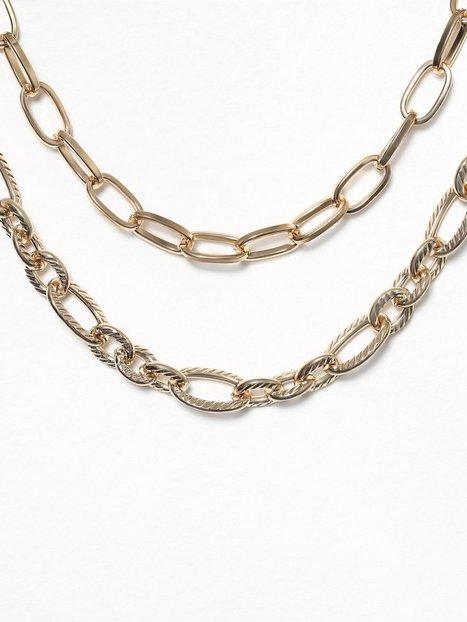 Billede af Freedom by Topshop Chunk Chain Textured Choker Halskæde Guld