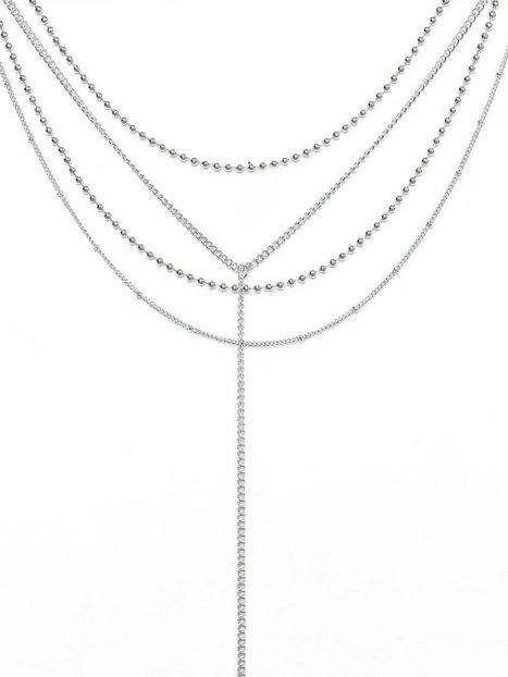 Billede af Missguided Jewelry Mega Multi Chocker Halskæde