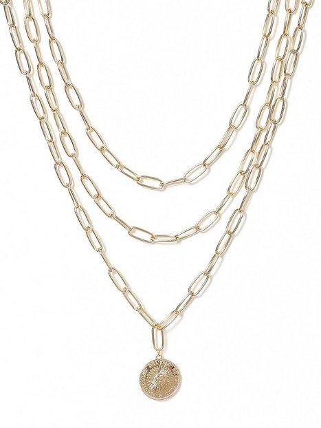 Billede af Missguided Jewelry Chunky Medalion Row Halskæde