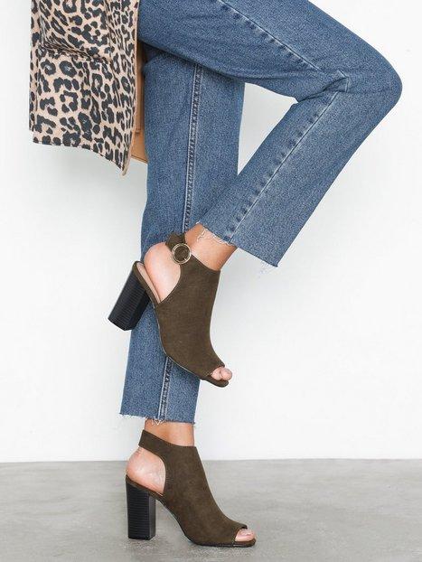 Billede af New Look Suedette Peep Toe Heels High Heel