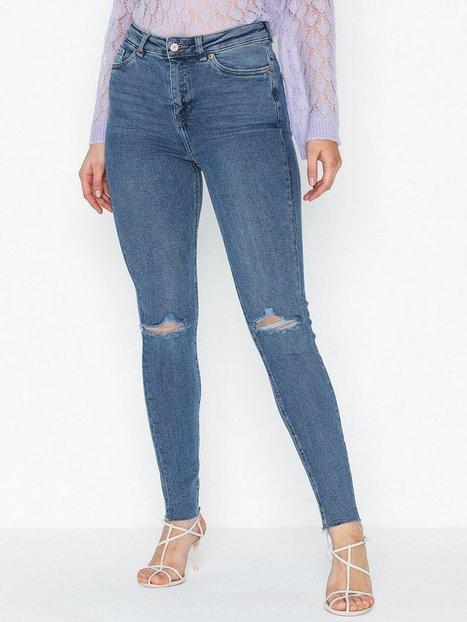 Billede af New Look Blue Ripped High Waist Super Skinny Hallie Slim fit