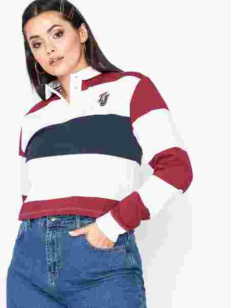 4f29fbfca3afd Tjw Cropped Rugby Polo - Tommy Jeans - Multi - Jumpers   Cardigans ...