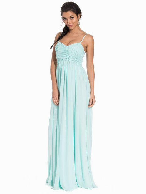 NLY Eve Wrap Bust Long Dress Maxiklänningar Mint thumbnail