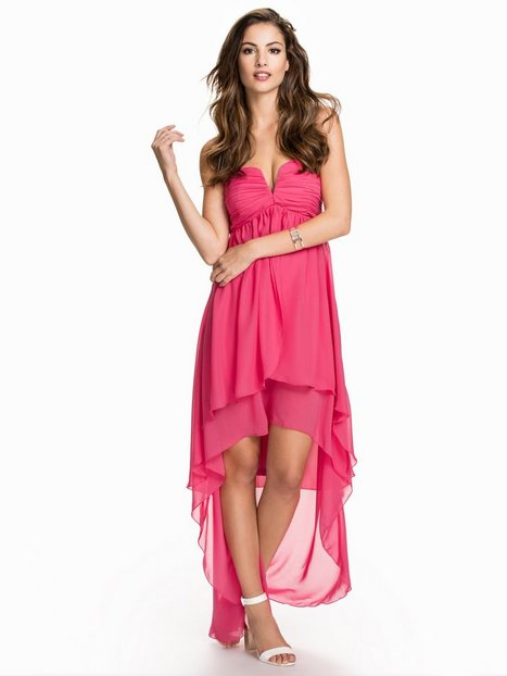 Billede af NLY Eve High Low Layer Dress Loose fit Mørk Rosa