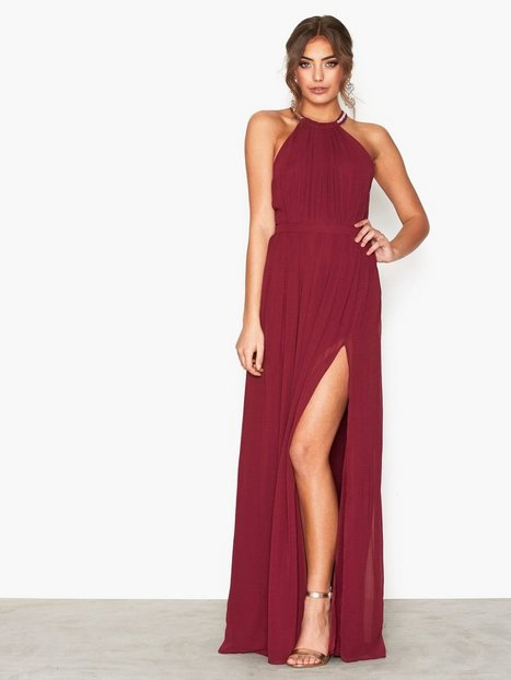 Halterneck Beaded Gown