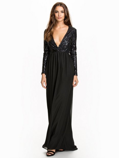 Wrap Sequin Gown