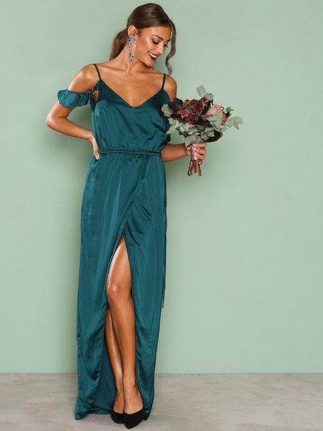 Billede af NLY Eve Cold Shoulder Gown Maxikjole Mørke Grøn