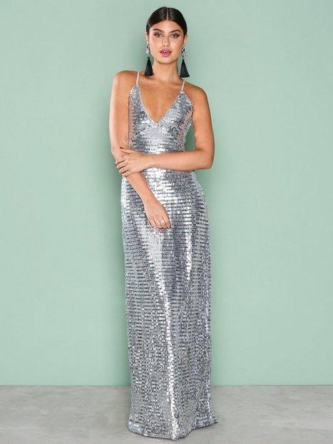 Billede af NLY Eve Slip In Sequin Gown Pailletkjoler Sølv