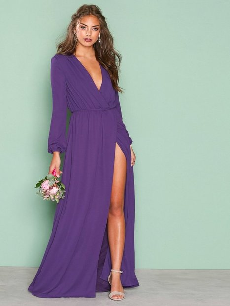 Billede af NLY Eve All Night Gown Maxikjole Lilla