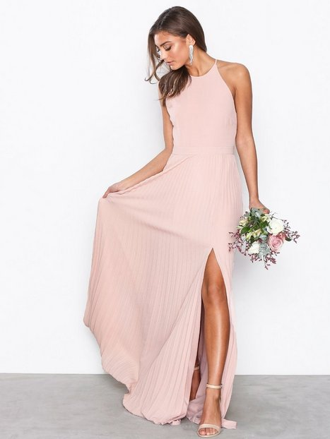 Pleated Lace Gown