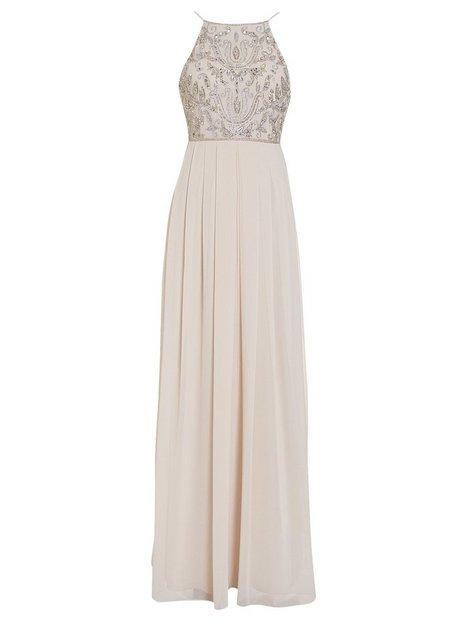 Tight Neckline Beads Gown