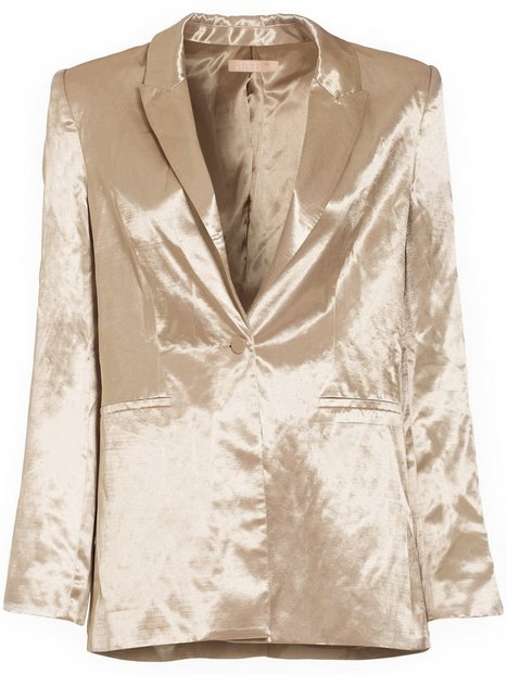 Shaped Satin Blazer