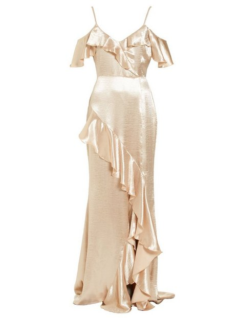 Satin Frill Gown
