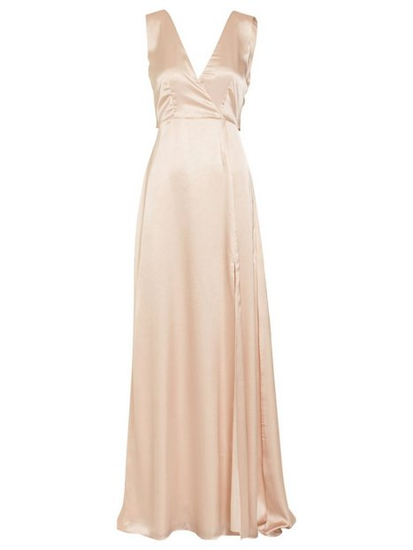 Bow Back Satin Gown