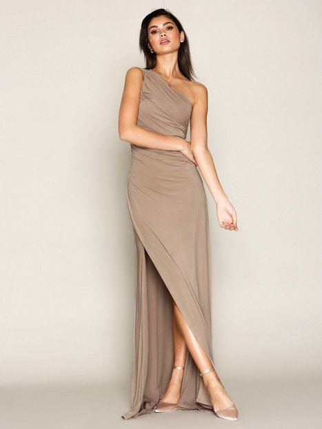 Draped One Shoulder Gown