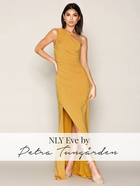 Draped One Shoulder Gown - Nly Eve - Gold - Partykleider - Kleidung ...