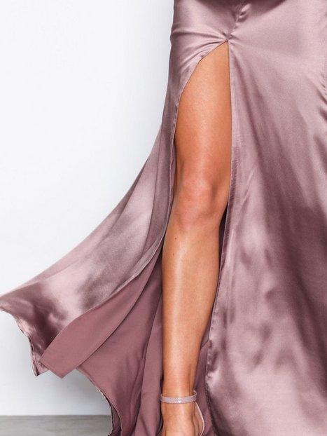 V-Back Satin Gown