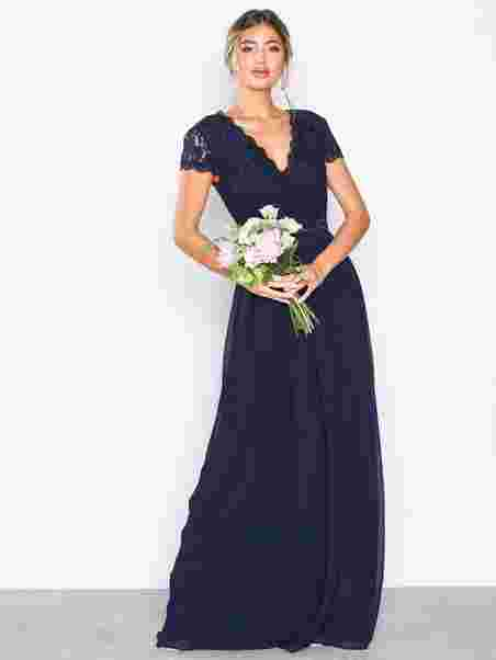 97a25932bc Cap Sleeve Wrap Gown - Nly Eve - Navy - Party Dresses - Clothing ...
