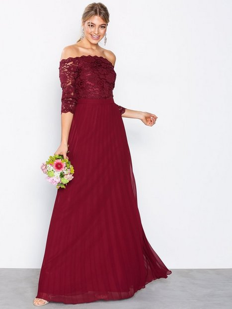 Off Shoulder Lace Gown - Nly Eve - Burgundy - Partykleider ...