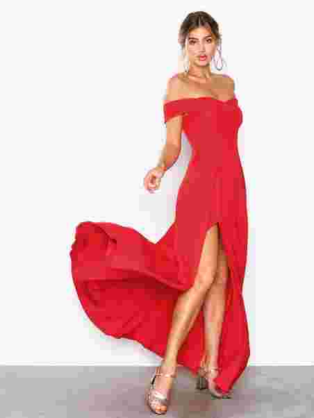 f8586acc8c9dc6 Off Shoulder Flowy Gown - Nly Eve - Red - Party Dresses - Clothing ...