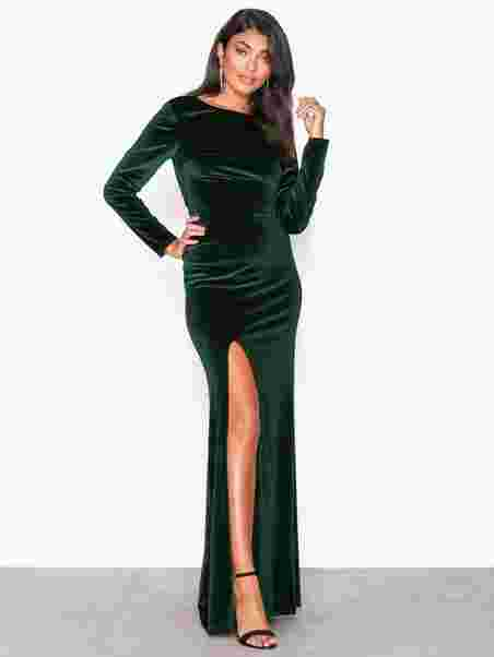 00ec0d5d9a8e Twist Back Velvet Gown - Nly Eve - Green - Party Dresses - Clothing ...