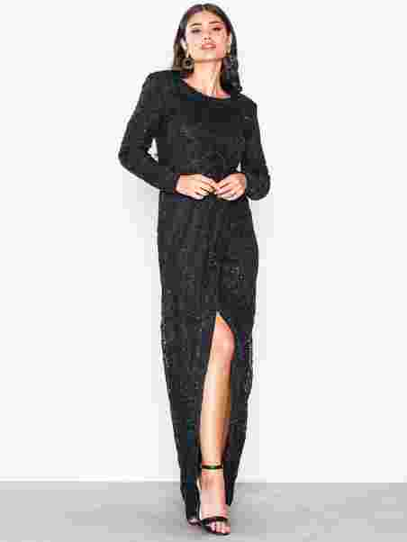 7ec4e525f8 Padded Sequin Lace Gown - Nly Eve - Black - Party Dresses - Clothing ...