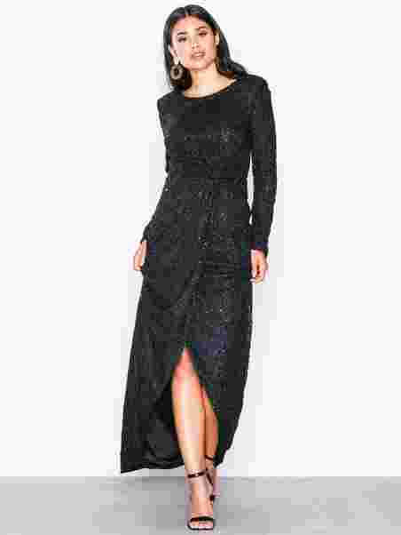 Shoppa Padded Sequin Lace Gown - Online Hos Nelly.com 7cfbc55450486