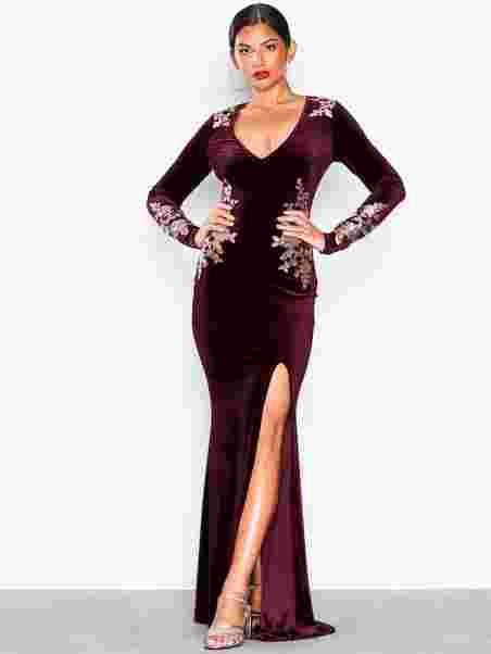 0bbda7a3a3d9 Decore Velvet Gown - Nly Eve - Burgundy - Party Dresses - Clothing ...