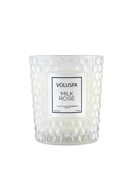 Billede af Voluspa Boxed Textured Glass Candle Duftlys Milk Rose